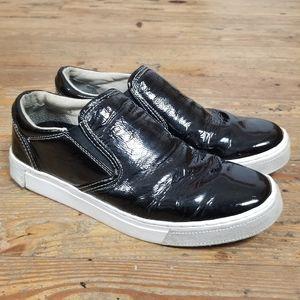 GUESS Copa Fashion Sneaker Black Patent Leather